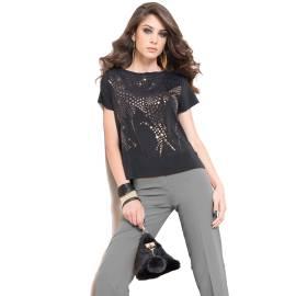 EDAS SANRUFA NERO women shirt with lurex print