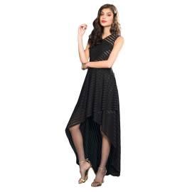 EDAS LUXURY RICCIARDI NERO women dress with asymmetrical skirt