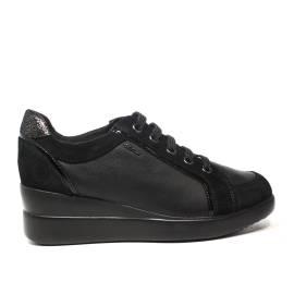 Geox sneakers con zeppa interna colore nero articolo 02285 C9999