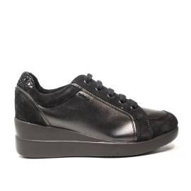 Geox sneakers con zeppa interna colore grigio scuro articolo D6430A 0AJ22 C9002