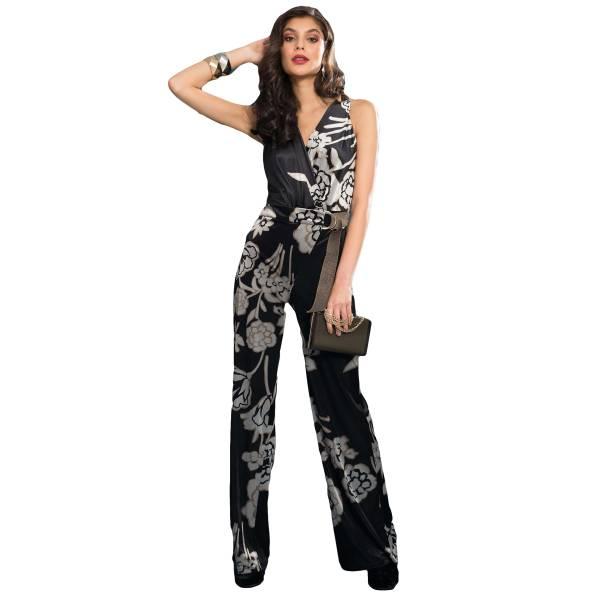 EDAS LUXURY VALENTINO NERO/ORO woman suit texture velvet