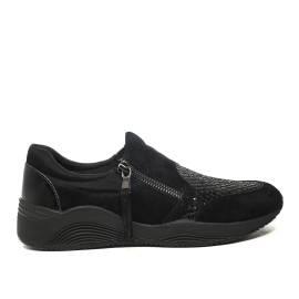 Geox sneakers con zeppa bassa colore nero articolo d620sa 021ew c9999