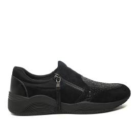 Geox sneakers with low wedge color black article d620sa 021ew c9999