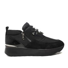 Geox sneakers con zeppa media colore nero articolo d745ta 01522 c9999
