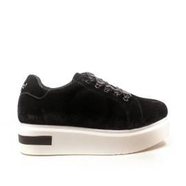 Woz sneakers zeppa alto colore nero articolo UP503 nero