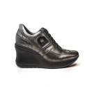 Agile by Rucoline Sneaker con Zeppa Alta colore nero articolo 1800a alvin