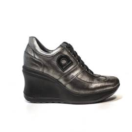 Agile by Rucoline Sneaker high wedge black color article 1800a alvin