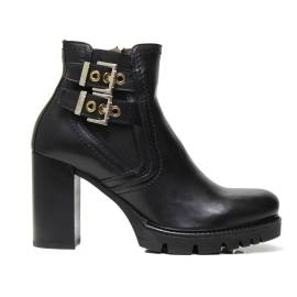 NERO GIARDINI A719915D 100 NERO woman high heel ankle boots