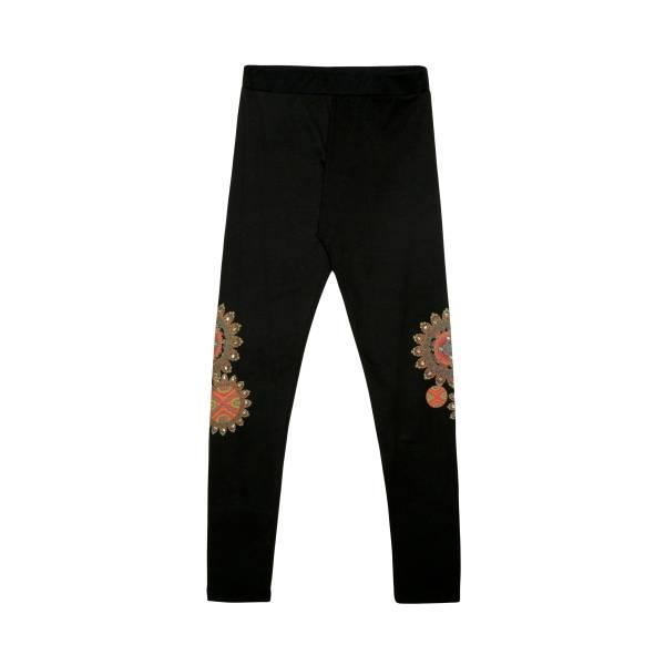 Desigual 17WWKK14 2000 leggings donna con stampa mandala