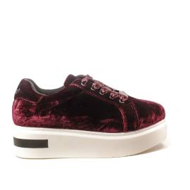 Woz sneakers zeppa alto colore rosso articolo UP503 bordeaux