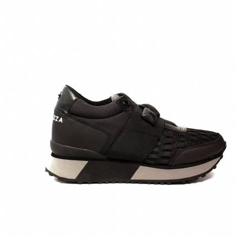 Apepazza sneakers donna zeppa con elastica colore nero articolo RSD08