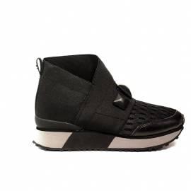 Apepazza sneakers donna zeppa con elastica colore nero articolo RSD09