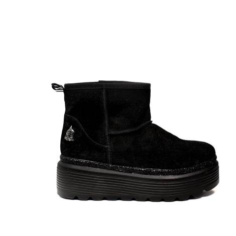 Marina Yachting ugg woman high wedge black color article 172 w 650 300