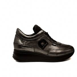 Agile by Rucoline sneaker con zeppa media colore canna di fucile articolo 1304 a alvin