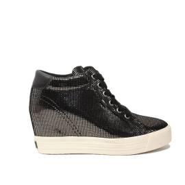 Tommy Hilfiger sneakers con zeppa alto argento articolo FW0FW01772/042
