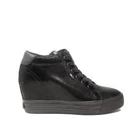 Tommy Hilfiger sneakers con zeppa alto nero articolo FW0FW01772/990