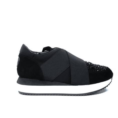 Blu Byblos sneakers con zeppa media colore nero articolo 677404 001