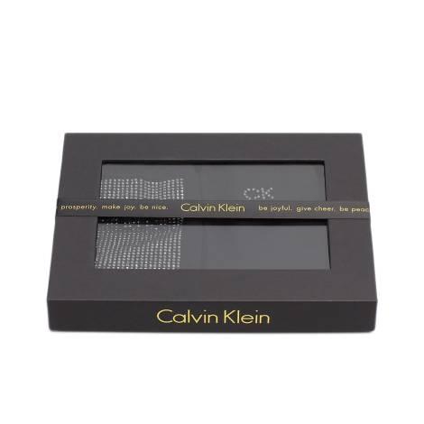 Calvin Klein ECD544 00 BLACK calzettoni donna, color nero, due per scatolo