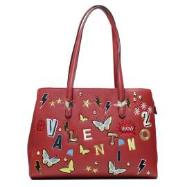 Valentino Handbags VBS2DT01 PATCH ROSSO borsa donna con toppe ricamate