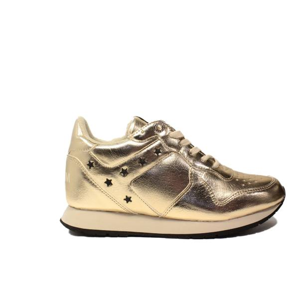 Tommy Hilfiger sneakers con zeppa basso oro articolo FW0FW01877/901