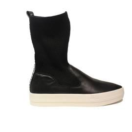 Napapijri stivaletto sneaker con zeppa per donna colore nero articolo 15741149/N00