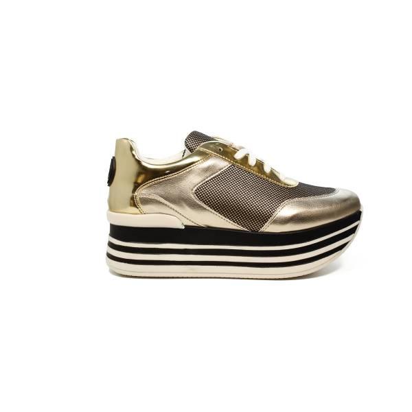 Byblos sneaker donna con zeppa alta color platino articolo 672021 045