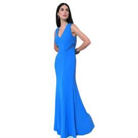 EDAS LUXURY PATTON long blue woman dress