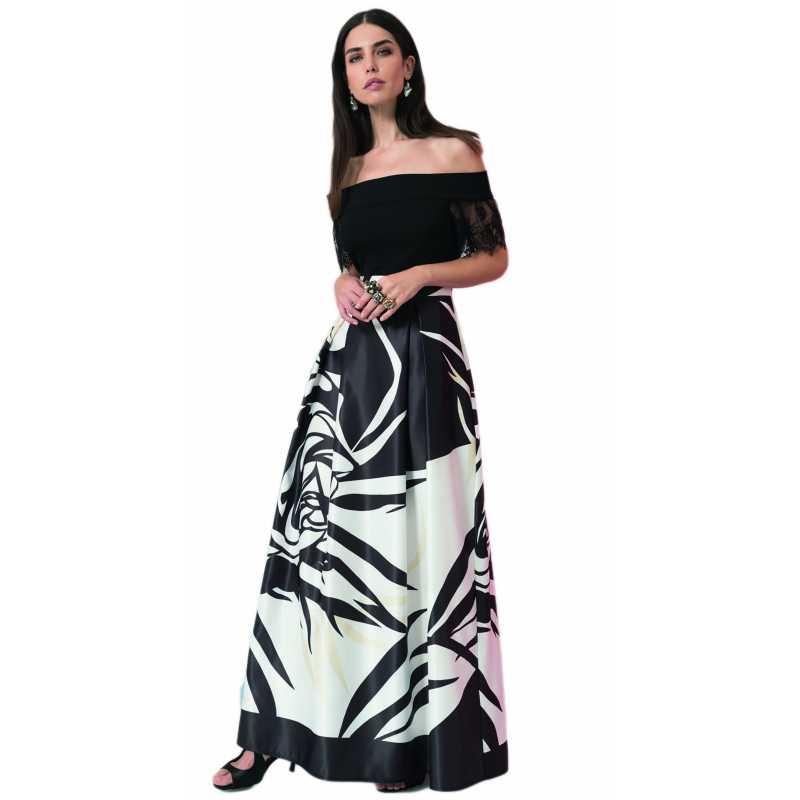 22869e3f5ffc EDAS LUXURY GIOVINE abito duchesse donna color NERO