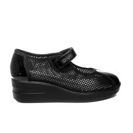 Agile by Rucoline ballerina woman in fabric with wedge black ARTICLE 233 TO CHAMBERS ULTRA BLACK