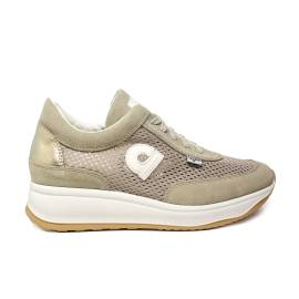 Agile by Rucoline sneaker perforated woman beige with wedge article 1304 TO CHAMBERS SOFT BEIGE