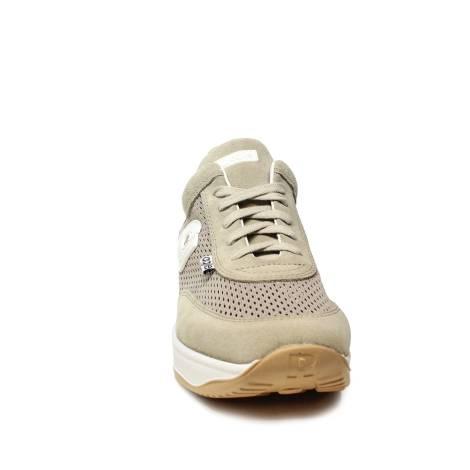 Agile by Rucoline sneaker donna traforata di color beige con zeppa articolo  1304 A CHAMBERS SOFT BEIGE 7b6365749d2