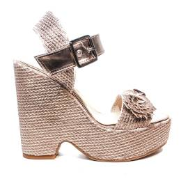 0795f5398d4126 Fornarina sandal woman with wedge high color cipria model marion article  PE18BUT1838C067