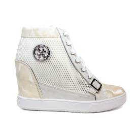 Guess sneaker woman model with internal wedge white FLIOE Article1 FAM12 WHITE