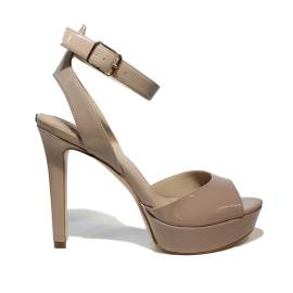 Guess sandalo donna modello lucido color cipria con tacco alto articolo FLCT21 PAF03 NUDE