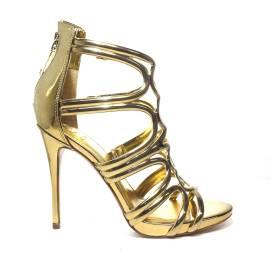 Guess sandalo donna colore oro lucido e tacco alto articolo FLTE22 LEL03 GOLD