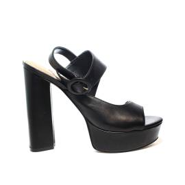 Guess sandalo donna colore nero con tacco e plateau alto articolo FLMA22 LEA03 BLACK