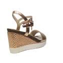 Braccialini sandalo con zeppa alta colore rosa articolo B2036 METAL ZEPPA ROSA