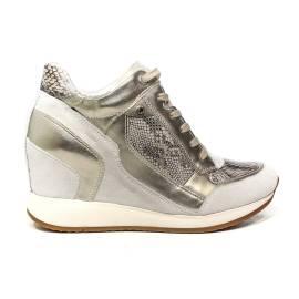 Geox sneaker donna con zeppa interna colore bianco sporco articolo D540QA 04122 C1002 D NYDAME A