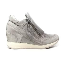 Geox sneaker donna con zeppa interna colore grigio chiaro articolo D620QA 0CD22 C1010 D NYDAME A