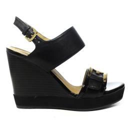 Geox sandalo donna con zeppa alta colore nero articolo D82P6E 08502 C9999 D JAMIRA A