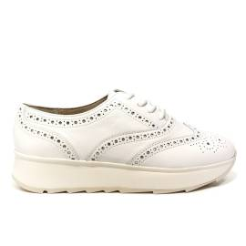 Geox francesina low with wedge for woman white article D825TA 00085 C1000 GENDRY D C
