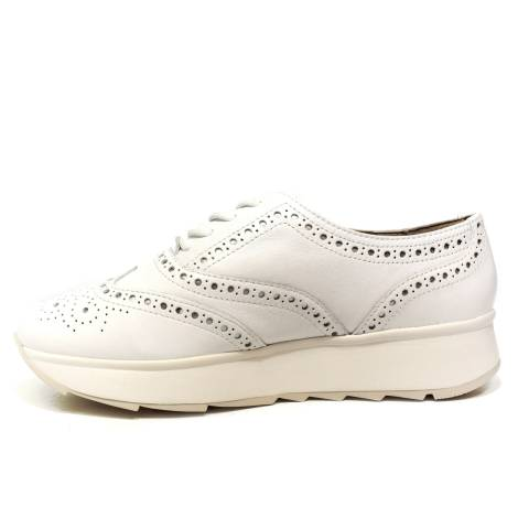 5ae1814a70 Geox francesina low with wedge for woman white article D825TA 00085 C1000  GENDRY D C