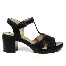 Geox sandal woman with heel medium color black article D827XB RBC 06C9997 D ANNYA M.S.B.