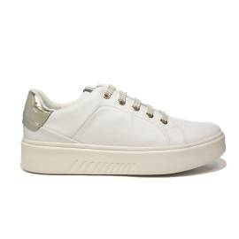 Geox sneaker low for donna color white and gold article D828FROM 00085 C1000 D NHENBUS TO