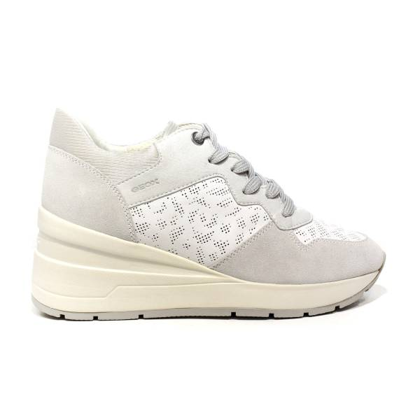 Geox sneaker woman with wedge high white color and dirty white article D828LC 08522 C1352 D ZOSMA C