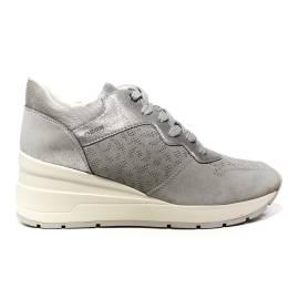 Geox sneaker donna con zeppa alta colore grigio articolo D828LC 022BN C1010 D ZOSMA C