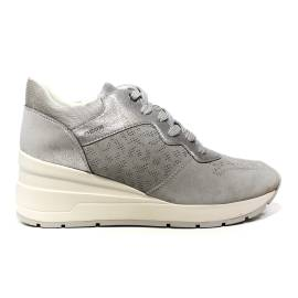 Geox sneaker woman with wedge high gray article D828LC 022BN C1010 D ZOSMA C