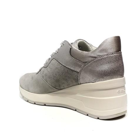 125 Sneakers D828lc Scarpe Blu Donna Geox Alte Zeppa