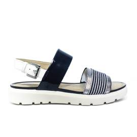 Geox sandal woman with wedge colors navy blue and white article D827WC HHAW 0C4211 AMALITHA D C
