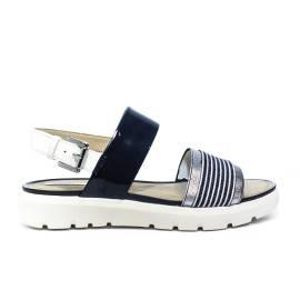 Geox sandalo donna con zeppa colori blu marino e bianco articolo D827WC 0HHAW C4211 D AMALITHA C
